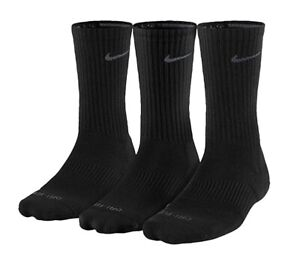 Nike Boy's Cotton Cushion Moisture Management Crew Sock 3-Pair Pack shoe 5/7y