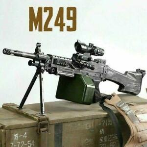 M249 Electric Action Weapon Gel Blaster Toy Gun Water Crystal Kids + Bullets