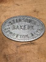 Token, Stinson's Bakery Edmonton Albert Canada, 1 Loaf Of Bread, Oval Coin C06