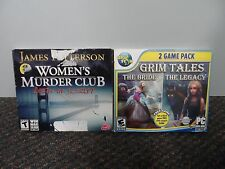 Women's Murder Club DEATH IN SCARLET & Grim Tales 2 Game Pack - PC Game CD-ROM