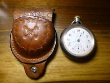 1903 - 18s Rockford Pocket Watch - Model 9, Grade 935, 17j, with leather holder