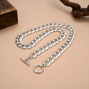 A25 Men Necklace Flachpanzerkette 12 MM Toggle Lock Silver 925