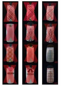A01-A12 70 Pcs Pre-Designed Fashion False French Acrylic Nail Half Tips