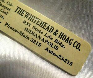 Vintage advertising letter opener WHITEHEAD HOAG CO. CELLULOID c. 1920's