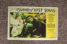 Island of Lost Souls #2 Lobby Card Movie Poster Charles Laughton Bela Lugosi