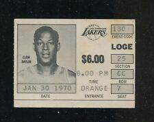 1969-70 Los Angeles Lakers Elgin Baylor Photo Ticket Stub