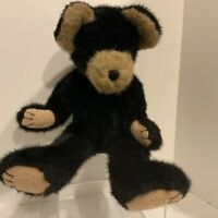 Boyds Bears Collection 16 inch Fully Jointed Teddy Bear Black and Tan 1985-1999