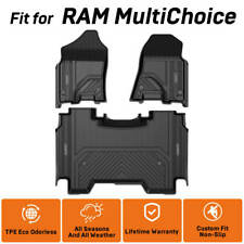 All Weather Floor Mat for Ram 1500 2500 3500 Crew Cab Front&Rear Row Custom Fit