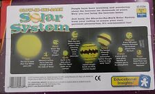 GLOW IN THE DARK HANGING SOLAR SYSTEM space - - ceiling mobile - large planets