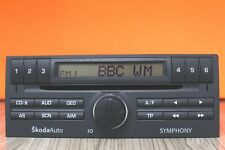 SKODA FABIA MK1 SYMPHONY RADIO CD PLAYER CODE 2001 2002 2003 2004 2005 2006 2007