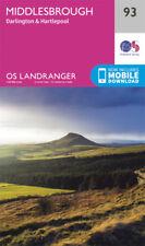 Middlesbrough Darlington & Hartlepool Landranger Map 93 Ordnance Survey Latest