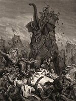 GUSTAVE DORE DEATH OF ELEAZER 1866 OLD ART PAINTING POSTER 1194OMLV