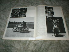 1971 YAMAHA 650 XS-1B Cycle Road Test Article 5 pgs Orginal with Specs