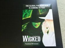 Wicked The Musical UK TOUR Edinburgh Preview Promo DVD and Glossy Folder RARE