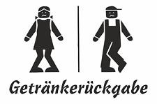GETRÄNKERÜCKGABE, lustiges Schild, TOILETTE , WC, KLO