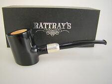 Rattray's Pipe Pfeife Vintage Army Schwawrz Matt 925 Silberring ohne Filter