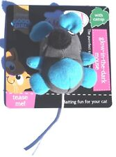 "CATNIP GLOW IN THE DARK CAT TOY 4"" PLUSH CATNIP MOUSE FOR CATS AND KITTENS"