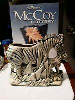 Vintage McCoy Pottery USA ,Zebra Planter 1950s Very rare.Shipped with insurance,