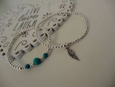 Feather Turquoise Costume Bracelets