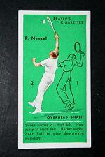Tennis    Mensel  Czechoslovakia    Davis Cup      Original 1930's Action Card