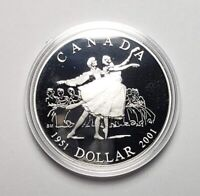 Canada 2001 National Ballet .925 Sterling Silver $1.00 One Dollar Coin Proof