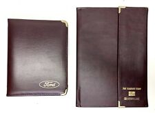 Vtg Rare Ford Leather Zipper Binder Planner Amp Tri Fold Business Portfolio Nos