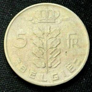 1964 Belgium 5 Francs coin XF    World Coin     #K980