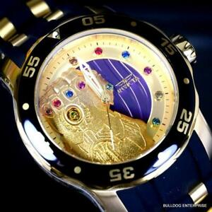 Invicta Marvel Thanos Infinity Stones Gem Pro Diver Scuba Limited Watch 48mm New