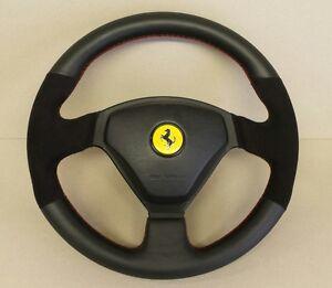 Ferrari 360 steering wheel Alcantara/leather any colour stitch trimming service