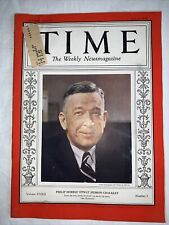 Time Magazine - July 4 1938 Philip Morris' Otway Hebron Chalkley