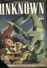 Unknown Science Fiction Magazine 39 Street & Smith Issues