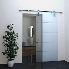 Glas Schiebetür STRIPES 77,5 x 205 cm Satiniert Raumteiler Raum Trenner