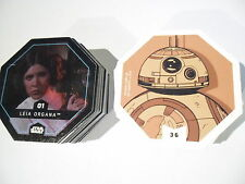 Rewe 4 x Komplett - Satz alle 36 STAR WARS COSMIC SHELLS Star Wars Sticker