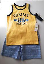 Tommy Hilfiger Boys Two Piece YellowTop w/Chambray Shorts Set