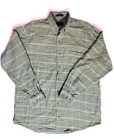 Orvis Signature Collection Mens Sz L Houndstooth Wool Blend Button Down Shirt