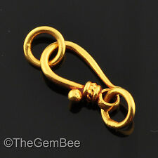 6.5mmx18.5mm 18k Solid Gold Old-Fashioned Hook Clasp
