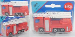 Siku Super 1014 01100 Scania R380 Fire Truck Feuerwehr-Drehleiter bomber Spanien