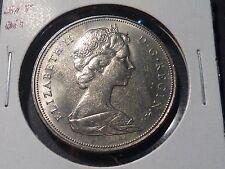 ERROR - impressive 1968 BU Canadian nickel dollar 60% struck through error