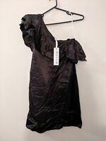 Muccia Melanie Cutfield NWT Black Size 8 One Shoulder Dress