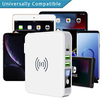 Qi Wireless Fast Charging Charger Power Bank Slim Portable 3USB Type-C  Battery