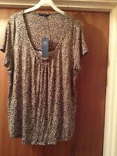 Leopard Print Top by Marks and Spencer Size 18 Brand New
