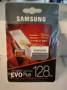 NEW Samsung EVO PLUS 128GB micro SD  SDXC UHS-I microSD Card