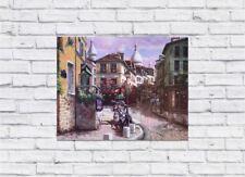 "Paris City Town Scene 15""x12"" Gorgeous Painting HD Canvas Wall Art Poster Print"