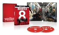 New: OCEANS 8 - U.S. Exclusive Steelbook 4K Ultra HD + Blu-ray