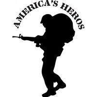 America's Heros Decal Vinyl Sticker Car Window Wall Army Military USMC AF Navy