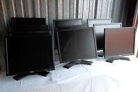 """LOT-10 Dell Monitor Black VGA DVI 19"""" P190S P190St 1908FP-BLK 1908FP D307J RNMH6"""
