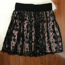 D-Signed Youth Girls XL Skirt Black Sequin