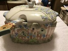 Free Shipping! Gibson Birdhouse Soup Tureen / Serving Casserole With Ladle