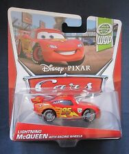 Disney Pixar Cars LIGHTNING McQUEEN with RACING WHEELS diecast car BRAND NEW WGP