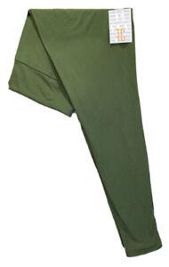 LuLaRoe TC Leggings #3054a -  Solid Green - Tall & Curvy